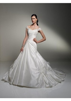 Trumpet Mermaid Scoop Chapel Train Taffeta Wedding Dress With Pleating Adwst0089 - Trumpet/Mermaid Wedding Dresses - Wedding Dresses | mode | Scoop.it