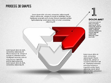 3D Color Process Shapes   Diagrams and Charts for Presentations   Scoop.it