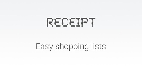 Receipt - Applications Android sur Google Play | Android Apps | Scoop.it