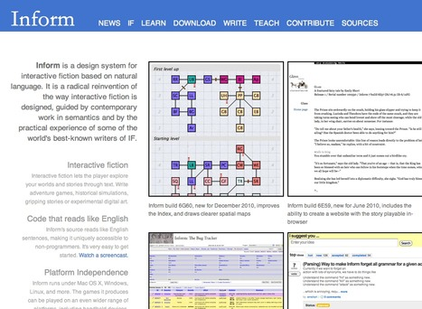 Inform - a system designed for Interactive Fiction | Interactive Fiction | Scoop.it