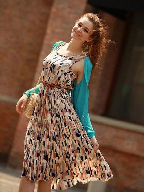A-line Plaid Chiffon Round Neck Casual Dress : KissChic.com | Kisschic Fashion Dresses | Scoop.it