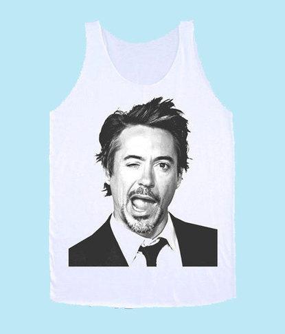Robert Downey Jr mug shot wink TANK TOP Unisex | New Collection | Scoop.it