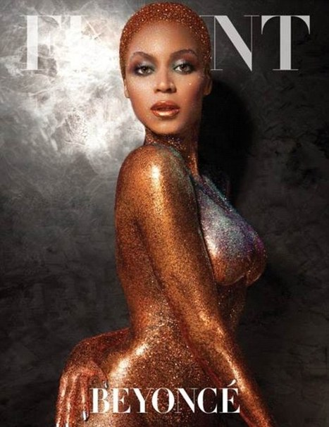 Beyoncé is gilded in glitter... and not much else as she appears nude on cover of Flaunt magazine | BlingBling | Scoop.it