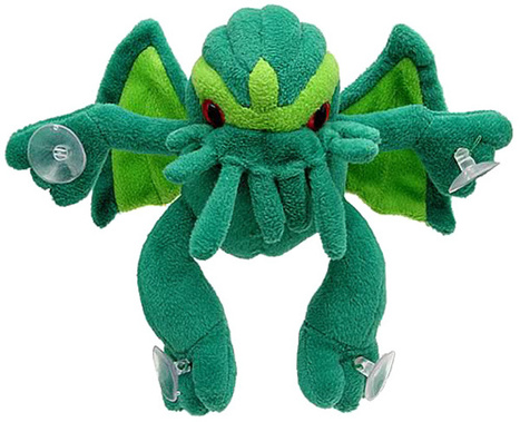 Cthulhu Suction Cup Plush: Way Cuter than Garfield | All Geeks | Scoop.it