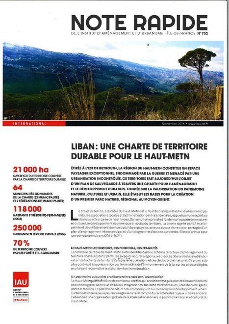 Fnau - Liban, une charte de territoire durable pour le Haut-Metn - | Dernières publications des agences d'urbanisme | Scoop.it