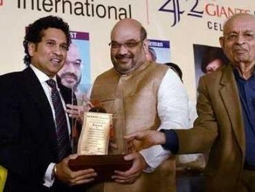 Sachin Tendulkar Gets Lifetime Achievement Award from BJP President Amit Shah | Sachin Ramesh Tendulkar | Scoop.it
