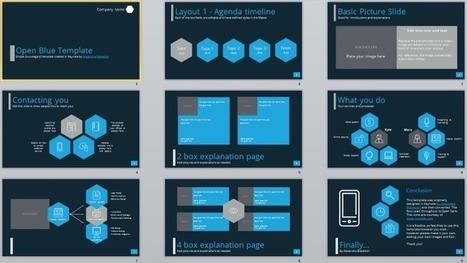 Freebie: Open Blue template in Keynote and PowerPoint   User Friendly   Scoop.it