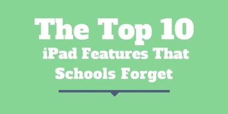 The Top 10 iPad Features That Schools Forget - Jonathan Wylie | Education | Scoop.it