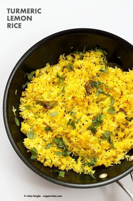 Turmeric Lemon Rice Recipe - Vegan Richa | Vegan Food | Scoop.it