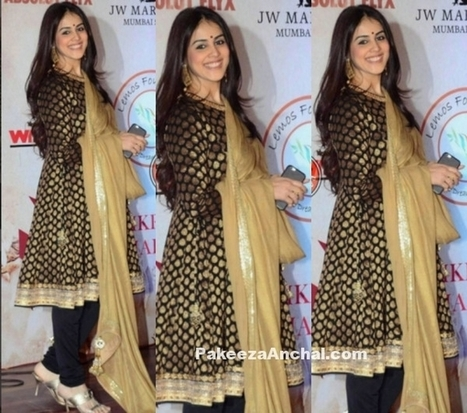 Genelia D'Souza in Vikram Padhni's Black and Gold Salwar Kameez | Indian Fashion Updates | Scoop.it