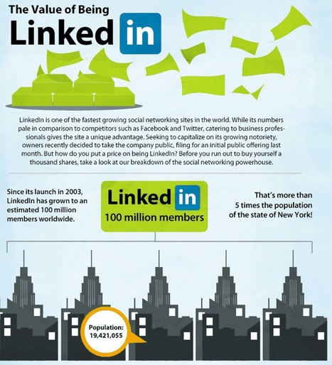 The Value Of Being LinkedIn ★ Bit Rebels | infographies | Scoop.it