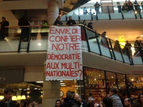 Bruxelles: un flashmob pour protester contre le Traité transatlantique - RTBF Societe   éducation au développement   Scoop.it