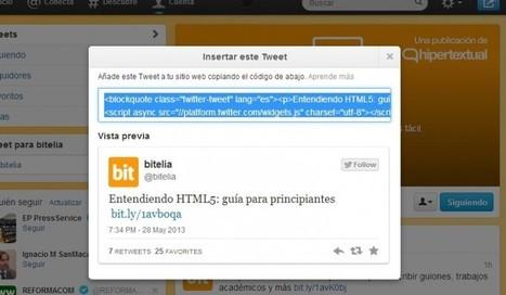 Recursos para integrar Twitter en una web | Redes Sociales | Scoop.it