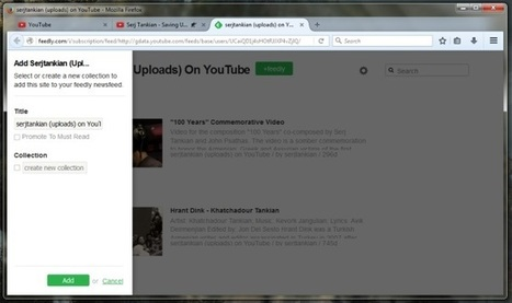 Add A YouTube Channel Subscription To Feedly From The Awesome Bar [Firefox] | Freewares | Scoop.it