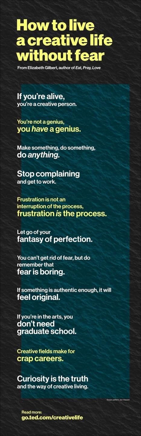 Fear is boring, and other tips for living a creative life | Creatividad e inteligencia colectiva en la era digital | Scoop.it