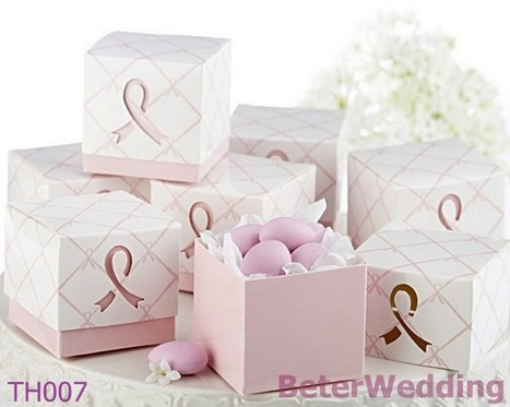 108pcs TH007 Pink Ribbon Wedding Favor Box,candy bag-淘宝网 | 純歐式婚禮喜糖盒 倍樂婚品 | Scoop.it