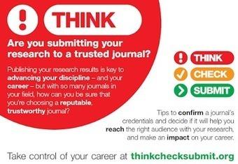 Blogus operandi: Choisir le bon périodique pour publier sa recherche – Think.Check.Submit | Documentation électronique | Scoop.it