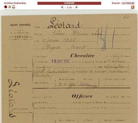 #ChallengeAZ : L comme Légion d'Honneur - L comme LEONORE ( Base de données / Archives Nationales ) | Nos Racines | Scoop.it