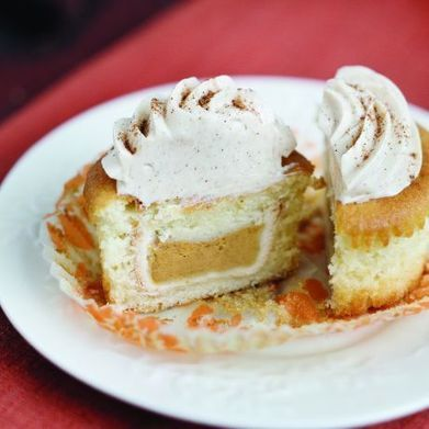 Pumpkin Pie Cupcakes with Cinnamon Cream Cheese Frosting   Just Chocolate!!!   Scoop.it