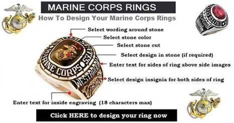Marine Corps Ring - Gold Marine Corps Rings | Military Shopping | Scoop.it