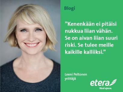 Leeni Peltonen: Onko sinulla varaa nukkua huonosti? | Kuntoutus & mielenterveys | Scoop.it