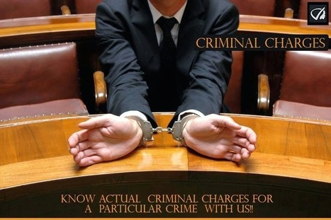 Instant Profiler: Criminal Charges - Know Actual Criminal Charges For A Particular Crime With Us | Best people search, criminal and business records search services- InstantProfiler | Scoop.it