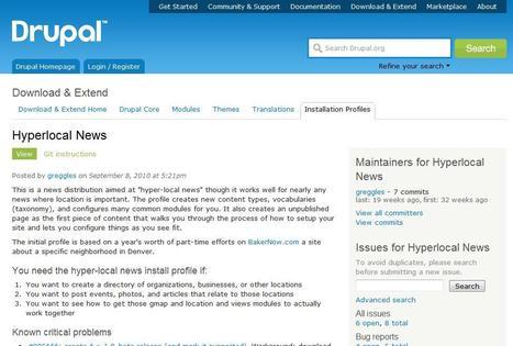 Hyperlocal News | drupal.org | Social media kitbag | Scoop.it