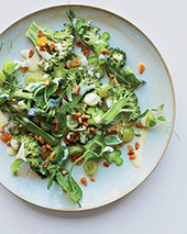 Broccoli Carpaccio with Grapes and Watercress Recipe - David Frenkiel and Luise Vindahl | Food & Wine | À Catanada na Cozinha Magazine | Scoop.it