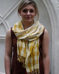 Handwoven Eri silk Yellow stoles Online India | GoCoop.com | Handlooms India | Scoop.it