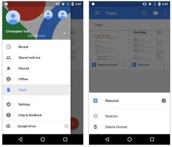 View deleted files with the latest Google Docs, Sheets, and Slides Android apps | Learning*Education*Technology | Scoop.it