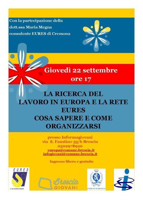 La rete Eures all'Informagiovani di Brescia - Brescia Giovani | Informagiovani, buone idee | Scoop.it