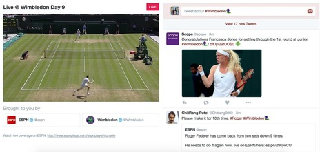 Twitter launches its first livestream sports broadcast with Wimbledon | TV Future | Scoop.it