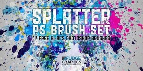 +50 Brosses Photoshop d'éclaboussures et taches de peinture | Neadkolor.com | Articles du graphiste Nead Kolor | Scoop.it