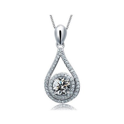 925 Silver Brilliant Swarovski Crystal Pendant For Women - DearyBox | Jewellery On-line Boutique Shop | DearyBox.co.uk | Swarovski Crystal Necklaces | Scoop.it
