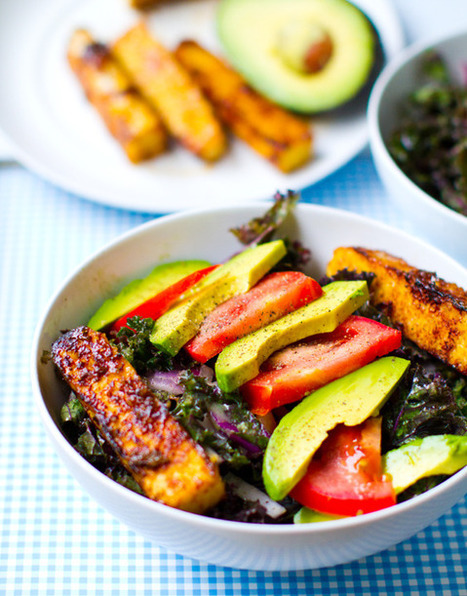 Kale Avocado Wraps w/ Spicy Miso-Dipped Tempeh | Healthy Whole Foods | Scoop.it