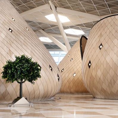 Autoban designs Heydar Aliyev International Airport terminal in Baku | Architecture, design & algorithms | Scoop.it