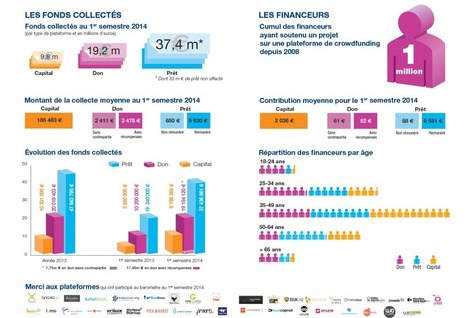 Baromètre 1er semestre 2014- Financement participatif France | Innovation monnaie | Scoop.it