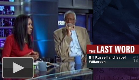 Isabel Wilkerson with NBA star Bill Russell | Leaving the Jim Crow South | Community Village Daily | Scoop.it