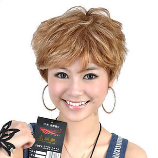 High Quality Capless Short Synthetic Light Brown Curly Hair Wig – WigSuperDeal.com   African American Wigs   Scoop.it