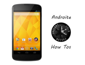 Know How To Flash Project Cold Fusion ROM Mako On Nexus 4 E960 | AndroidTuition | Scoop.it