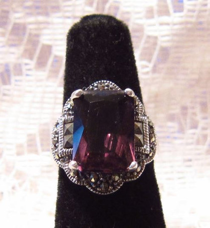 Vintage Sterling Silver with Purple Amethyst Stone Ring Size 5 | Fabulous Vintage Jewelry | Scoop.it