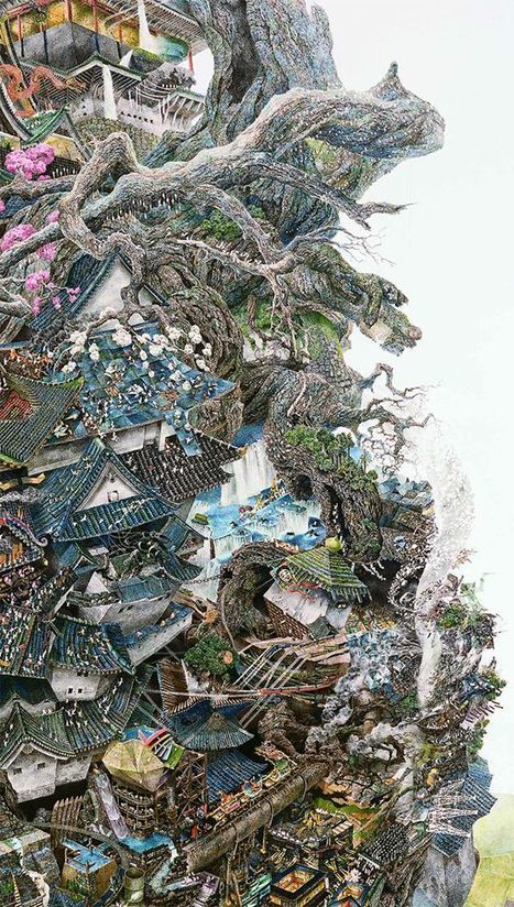 Artist Spends Years Working on Just One of His Incredibly Detailed Drawings | Strange days indeed... | Scoop.it