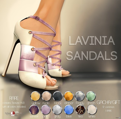 Lavinia Sandals Gacha Group Gift by Pure Poison | Teleport Hub - Second Life Freebies | Second Life Freebies | Scoop.it