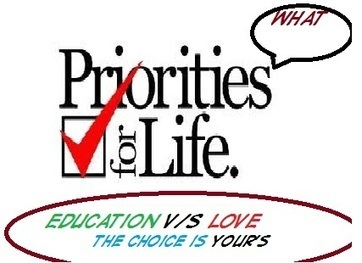 """Priority in life –""""LOVE"""" or """"EDUCATION"""" - News - Bubblews 