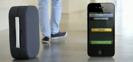 Trackable suitcase automatically follows its owner   NetSocial   Scoop.it
