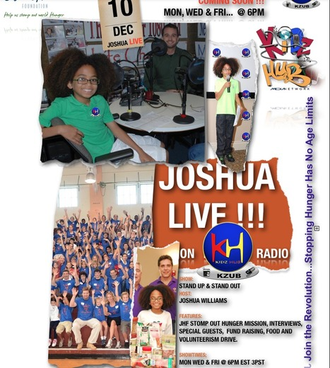 """Jr. Broadcaster Joshua Williams & Founder of Joshua's Heart Foundation """"Stopping Hunger Has No Age Limits"""" 