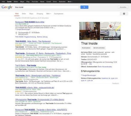 Google Knowledge Graph in der lokalen Suche | Lokale Suche News | Scoop.it