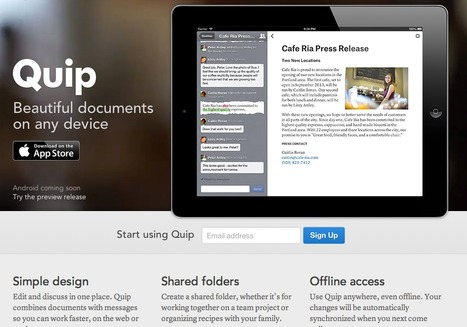 Quip - For team work on documents and messages | iPads | Scoop.it