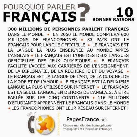 Un petit coin de France: Pourquoi parler français ?   J'aime le français. Et vous ?   Scoop.it