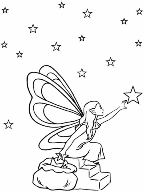 printable fairy coloring pages | Printable coloring pages | Scoop.it